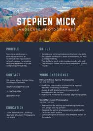 Photographer Resume: Samples And Writing Guide [+25 Examples] Leading Professional Senior Photographer Cover Letter 10 Freelance Otographer Resume Lyceestlouis Resume Example And Guide For 2019 Examples Free Graphy Accounting Sample Full Writing 20 Examples Samples Template Download Psd Freelance New 8 Beginner 15 Design Tips Templates Venngage