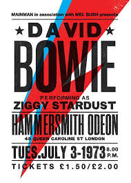 David Bowie Concert Poster Art Print Par TheIndoorType
