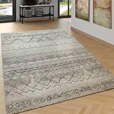 wohnzimmer teppich ethno muster beige