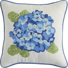 Pier 1 Outdoor Cushions Canada by Hydrangea Embroidered Pillow Pier 1 Imports