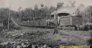 Transferring Cuban Sugar Cane By Railroad In 1906