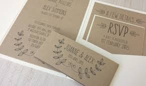 Elegant Handmade Wedding Invitations Pocketfold Laurel