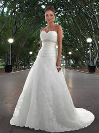 organza a line gown with strapless sweetheart neckline wedding