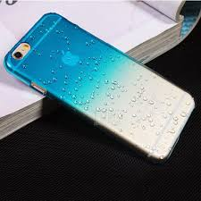 Ultra Thin Creatively 3D Rain Drop Water Raindrop Hard Back Cover Semi Transparent Colorful Phone Case For Iphone 6 PT2150
