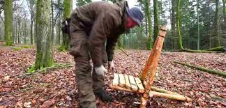 How To Build A Homemade Camp Chair Bushcraft Style With Tree And Hatchet