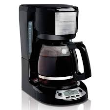 12 Cup Programmable Coffee Maker With 3 Settings Black 49615