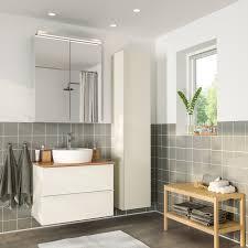 godmorgon tolken törnviken badeinrichtung 6 tlg hochglanz weiß bambus dalskär mischbatterie 82 cm