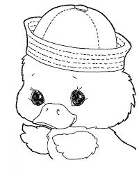 Pin Drawn Duck Printable 14