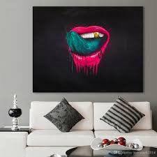 100 Pop Art Home Decor 2019 Wall Pictures For Living Room The Red Lips Painting Canvas Oil Painting No Frame Modern From Jonemark2014 2562