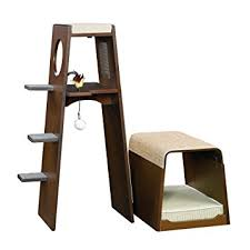 modern cat tower sauder 416819 modular modern cat tower pet supplies