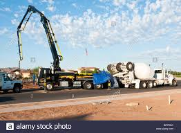 100 Used Trucks Arizona Concrete Trucks Feed A Boom Truck Used For Pumping Concrete For A
