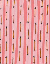 Hand Drawn Arrow 85x11 Digital Scrapbook Paper By BNute Productions