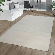 wohnzimmer teppich handgewebt einfarbig weiß