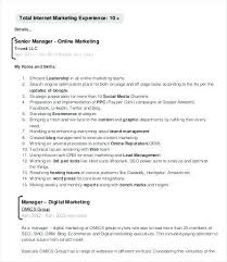 Marketing Resume Examples Digital 7 Free Word Documents Manager Sample Skills