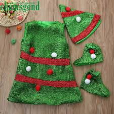 Childrens Christmas Tree Dance Costumes Toddler Kids Baby Girls Clothes Party Dresses Hat Socks Outfit Ot23 P30 In From Mother On