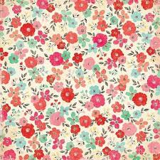 Pattern Floral Colour Coral Mint Red Flowers Roses