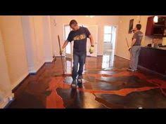 Liquid Floor Leveler Youtube by How To Use 3d Epoxy Floor Paint Youtube Rug U0027s And Flooring