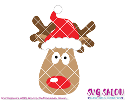 boy reindeer santa hat svg cut file set for christmas shirts onesies