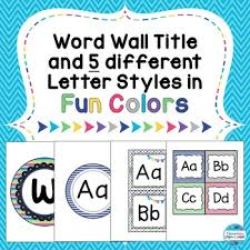Word Wall Letters Entrancing And Title In Fun Colors Patterns Decorating