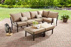 Mainstays Patio Heater Instructions by Mainstays Sandhill 7 Piece Outdoor Sofa Sectional Set Seats 5
