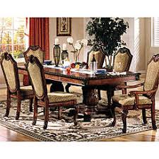 Acme United Furniture Chateau De Ville Dining Table With Double Pedestal In Cherry Finish