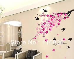 Free ShippingNew 1set Retail Beautiful Spring Flowers With Cute Birds Wall Decor 100x120cm Sticker SI614 In Stickers From Home
