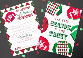 Tacky Sweater Christmas Party Invitations Free
