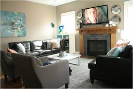 Living Room Layout With Fireplace by Arrange Tips For Creation Narrow Living Room Layout Brown Leather