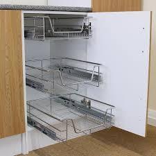 plateau coulissant pour cuisine 3pcs tiroir de rangement cuisine extractible paniers à fermeture