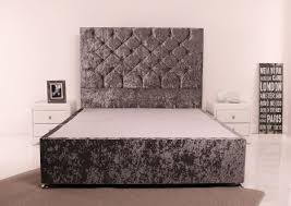Velvet Headboard King Size by Cheap King Size Divan Bed With Mattress Home Beds Decoration