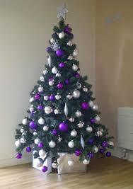 Silver Christmas Tree Themes 2016 Holidays Colorful