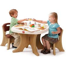 Unfinished Wooden Chair Set Activity Play Nursery Chairs Table Tikes ...