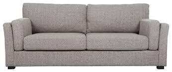 canapé en tissu gris canapé design 3 places tissu gris clair milord miliboo