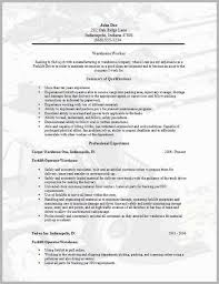 Warehouse Worker Resume We Provide As Reference To Make Correct And Good Quality