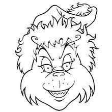 The Grinch In Christmas Sleigh Head Coloring Page