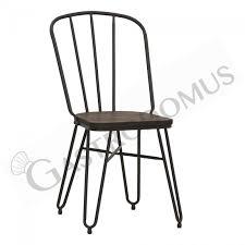 eike stuhl mit lackiertem metallgestell und holzsitz mod 1781 m82 gastrodomus