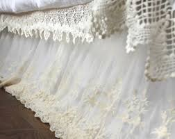 Split Corner Bed Skirt by Lace Bedskirt Etsy