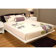 south shore basics full platform bed with molding 54 white