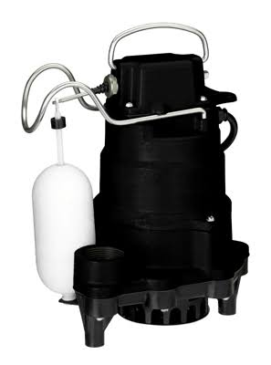 Pentair Water 235819 Master Plumber Submersible Sump Pump - Black, 1/3 HP
