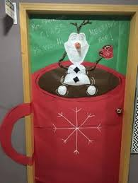 Classroom Door Christmas Decorations Ideas by My Olaf Holiday Door Decoration For Coach Schindler U0027s