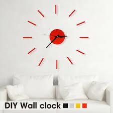 details zu wanduhr deko spiegel wandtattoo designer wohnzimmer deko uhr clock wall j