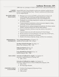 Nurse Resume Template Luxury Best Rn Bsn Awesome Experienced Registered Examples