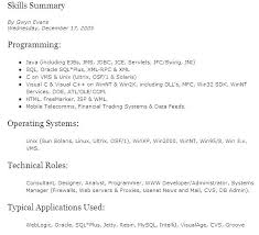 Resume Technical Summary It Skills Examples Support