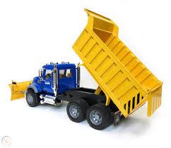100 Rc Truck Snow Plow Bruder Mack Granite Dump With Blade 02825
