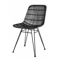 hkliving hkliving dining chair rattan black
