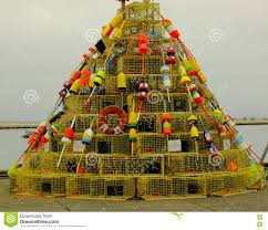 Decorative Lobster Trap Buoys by Fisherman U0027s Christmas Tree Stock Image Image Of Christmas 70468219