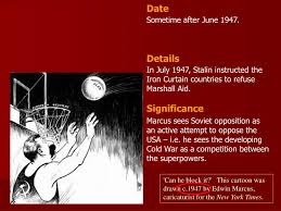 Iron Curtain Speech Cold War Definition by Ppt U0027can He Block It U0027 This Cartoon Was Drawn C 1947 By Edwin