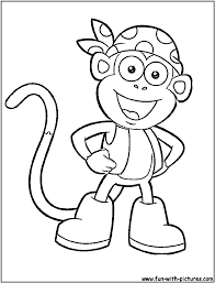 Extraordinary Dora The Explorer Coloring Pages Getcoloringpages Boots