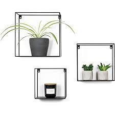 decozey deko wandregal schwarz 3er set im industrial design i wanddeko metall hängeregale zum verzieren an der wand i schweberegale zum dekorieren