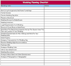Printable Wedding Planning Checklist B